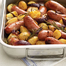 Rosemary and Pepper Sausages with New Potatoes photo