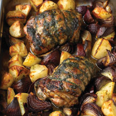 Lamb with Red Onions photo