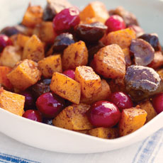 Chestnuts with Squash and Cranberries photo