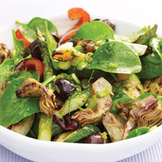 Grilled Vegetables and Spinach Salad photo