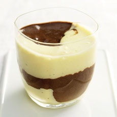 Dark Chocolate and White Chocolate Mousse photo