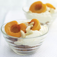 Apricots with Amaretti Cookies and Mascarpone photo