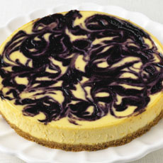 Blueberry-Ripple Cheesecake photo