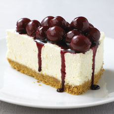 Chilled Black Cherry Cheesecake photo