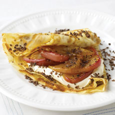 Crepes with Caramelized Apples and Chocolate photo