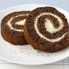 Chocolate and Buttercream Swiss Roll photo
