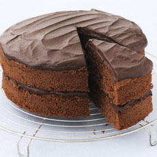 All-in-one Chocolate Cake with Fudge Icing photo