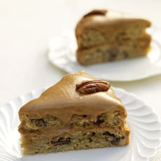 Pecan, Coffee, and Maple Cake photo