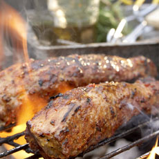 Incendiary Pork Tenderloins with Green Chile-Corn Salsa photo