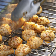 Moroccan-Style Grilled Sea Scallops photo