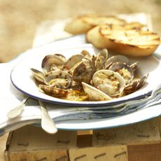 Grilled Clams in Chile-Butter Sauce photo