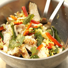 Southeast Asian-Style Cabbage Salad with Grilled Chicken photo