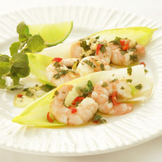 Shrimp with Mint, Chile, and Ginger photo