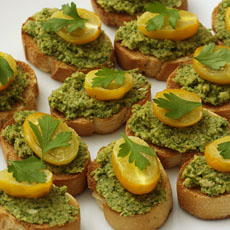 Crostini with Green Olive Tapenade photo