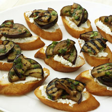 Eggplant and Goat Cheese Crostini photo