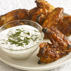 Baked BBQ Wings with Blue Cheese Dip photo