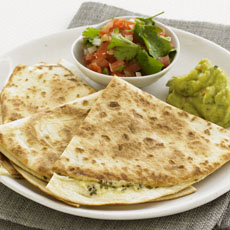 Quesadillas with Salsa Mexicana photo