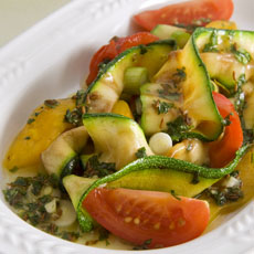 Grilled Zucchini and Pepper Salad with Cilantro and Cumin photo