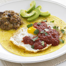 Ranch-style Eggs with Refried Beans photo