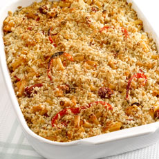 Macaroni Bake with Ham and Peppers photo