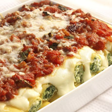 Spinach and Ricotta Manicotti photo