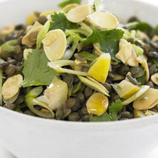 Lentil Salad with Lemon and Almonds photo