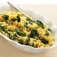 Spiced Orzo with Spinach photo