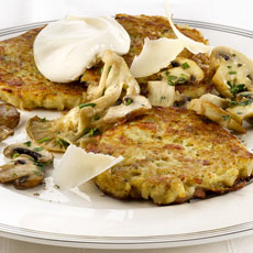 Potato and Fennel Pancakes with Mushrooms photo