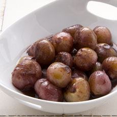 Glazed Shallots with Red Wine photo