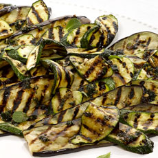Pan-grilled Eggplant and Zucchini Salad photo