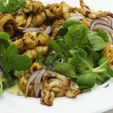 Calamari Salad with Mint and Dill photo