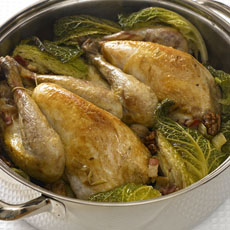 Pot Roast of Guinea Hen with Cabbage and Walnuts photo