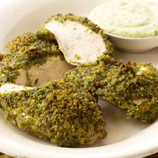 Seared Herbed Chicken with Green Herb Sauce photo