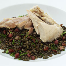Guinea Hen with Spiced Lentils photo