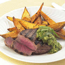 Filet Mignons with Walnut Pesto photo