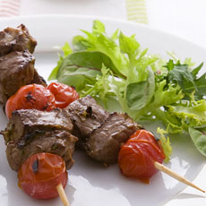 Beef Kebabs with Lime, Ginger, and Honey photo