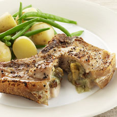 Pork Chops with Blue Cheese Stuffing photo