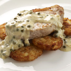 Pork Chops with Green Peppercorn Sauce photo