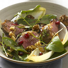 Warm Lamb Salad with Pomegranate and Walnuts photo