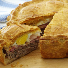 Sausage, Bacon, and Egg Pie photo