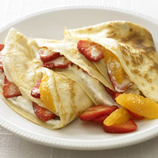 Strawberry and Orange Cr�pes photo