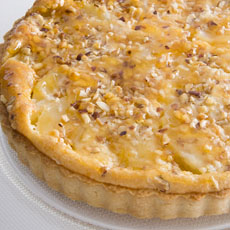 Pear, Mascarpone, and Hazelnut Tart photo