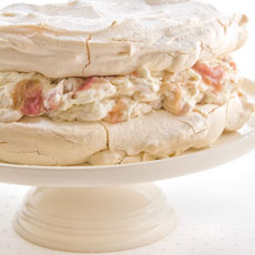 Rhubarb and Ginger Meringue Cake photo