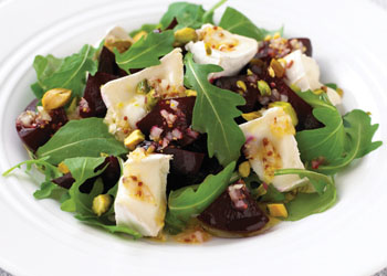 Goat Cheese, Beet, and Pistachio Salad