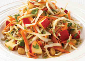 Carrot Salad with Cabbage and Peanuts