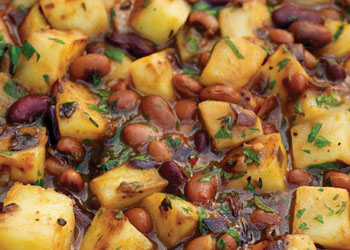 Spiced Bean and Herb Hash
