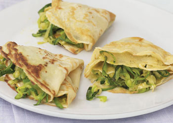 Crêpes with Zucchini and Emmentaler