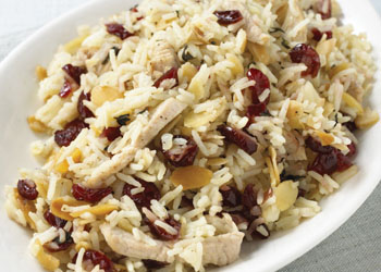 Turkey, Almond, and Cranberry Pilaf