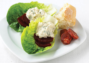 Baby Gem Lettuce with Blue Cheese and Beets