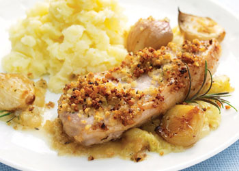 Pork Chops with Apple and Baby Onions
